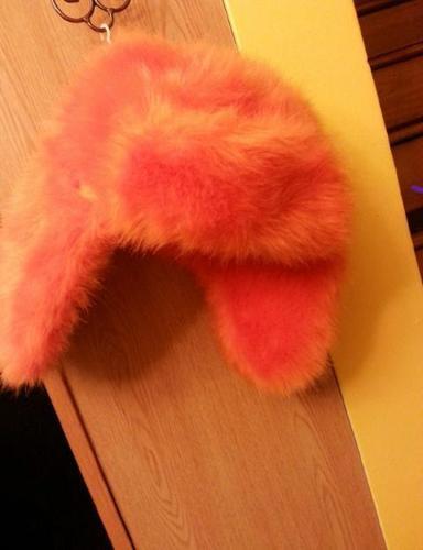 Bright Orange Winter Trapper Hat