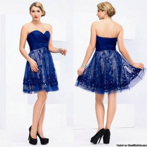 Criss Cross Sweetheart A-Line Handmade Homecoming Dress
