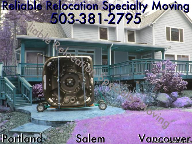 Portland's Spa & Hot Tub Movers -- Relocation