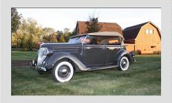 This 1936 ford is a eye catching example of American quality from the period. cruising around in this beautiful ford makes you proud of our past history. Powered by a smooth running 221 ci v8 flat head, a 3 speed transmission and a cloth folding top is