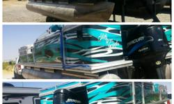 2000 22 foot suntracker party barge. Just had newer 150hp just professionally installed fuel injected 2 stroke 900hours. All new interior and carpet. Has professional wrap. Water ready, just took out this passed weekend. Lots of storage. 15,000obo