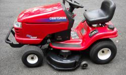 2004 CRAFTSMAN RIDING TRACTOR DYT4000 18.5 HP 6 SPEED 42 IN DECK FRONT BUMPER ELECTRIC PTO $650.00 GOOD CONDITION WILL DELIVER FOR A SMALL FEE CALL --