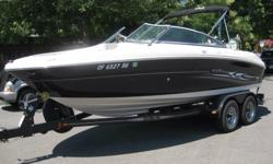 2005 SeaRay 200select 21'104 hours Give in to the dream. Fully outfitted with an extra large swim platform, stainless steel grab handles and built-in ice chest, this beautiful boat is just what you need to relax and let go. Extra amenities include