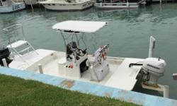 """Great boat for Bay fishing. Stable and safe. Motor is also 2006. Boat has T-Top, front platform, 8' Power Pole, 7"""" Garmin map/sonar, VHF. Boat is clean and runs great. No Trialer. Boat is dry stored with Sea Ranch II at South Point Marina. Call Steve"""