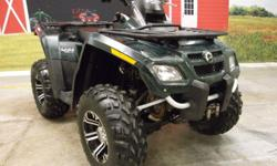 2007 Bombardier CanAm Outlander High Output Rotax V Twin 650 fuel injected 4X4 that runs and looks great!! This Outlander has ITP rims with 25? Titan tires, 4 wheel independent suspension, front and rear disc brakes plus an Ostrich skin seat. It has 1633