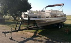 2010 Voyager Fish and Cruise Pontoon 22ft, Honda 4 Stroke 115 motor, 1 owner. Average retail $21,000 priced to sell!! $17,500. Serious inquiries only.