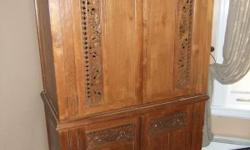 """This is an incredible antique wooden dresser imported from Thailand. This dresser is 28"""" deep x 48"""" long x 80"""" high Price: $1490 (worth $3000)"""