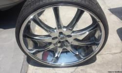 """4 Brand new tires 275/25ZR26 , Rims 26"""" like new in very good conditions., CALL FOR OBO TO 562-469-8213"""