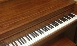 Baldwin Piano 45 Inch Upright beautiful action, clean hammers and felts, sound is wonderful, cabinet is elegant with a matching bench Come and try out this beautiful piano for 1250.00 can't go wrong. No issues Can see any time. And I can have someone
