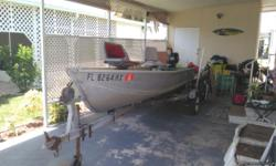 14' smoker craft on trailer with a Suzuki 4stroke 4hp motor. Runs great. Great fishing boat. New wheels and bearings on trailer. Call 941-387-5725 leave message.
