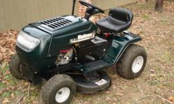 """2005 38"""" deck Bolens riding lawn mower. 15.5 HP Briggs & Stratton 6 speed (shift on the go).  In great operational condition, no problems. New blades recently installed. Always garaged and only used in a metro residence small area capacity"""
