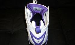 Size 11 Brand new Jordan's. White with Purple and Black. $130. 267 Kenmore Ave. 11am-7pm mon-fri 12pm-3pm sat-sun (716) 783-7853