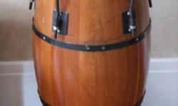 """This is a two set of Scandinavia cherry wood conga drum set. I had paid for the set $999. Size: Top Drum 14"""" Diameter, Bottom (hollow) 9"""" Diameter. Height 29.5"""". I am selling each Conga drum for $349. Or $649 for the whole set of two."""