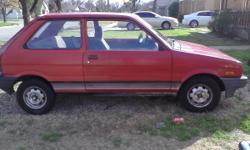 A classic car an 88Subaru justy 86000 miles new clutch and pressure plate needs oil change runs and new windshield just need to get it to someone else who can give it tlc price is negotiable or will trade