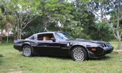 """""""SMOKEY & THE BANDIT"""" LOOK-A-LIKE, 1979 PONTIAC TRANS-AM, BARN FIND, 100% ORIGINAL, PROFESSIONALLY STORED FOR PAST 12 YEARS, ADULT OWNED AND DRIVEN, CAR PURCHASED NEW IN 1979 IN MIAMI. ALL BOOKS AND RECORDS, INCLUDING ORIGINAL WINDOW STICKER, T-TOPS,"""