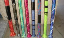 Discounts given for each additional didgeridoo ordered. Only 8 left. Gorgeous and sound great. 4' long, except one that's 5' long.