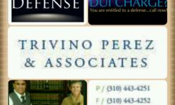 If you are looking for an affordable, Top-notch Criminal Defense Lawyer, look no further. Call us at 310 443 4251 Aggressive Criminal Defense for DUI, Domestic Violence, Theft, Drugs, DMV Hearings, post-conviction matters, probation violations, criminal
