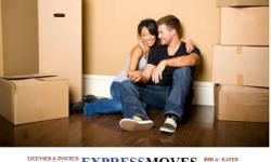 Moving out of a home, or apartment? Call Express Moves Movers! We have summer time specials going on.  2 men for $50 an hour with any truck. We have 3- 4 men specials to give you more saving to get your move done faster. We are a