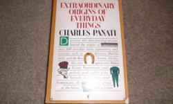Extraordinary Origins of Everyday Things Softcover Book, 1987!!    This in really nice condition, but there is a price tag pull on the front cover-- with All pages here and complete!     Please see the