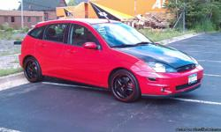 its a 2004 svt focus with 67000 miles on it. it has a procharger on it pushing about 280hp. i can sell it with or without the procharger. it has a lot of mods, too much to list. body and interior are very clean. will trade for a newer gixxer 1000, or