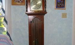 Grandfather clock is a Seth Thomas 170th Anniversary Commemorative, good condation, i just do not know how to set it. Entertanment Center is light oak, good condation, will provide picture soon............... 1,000 for the Clock and 50.00 for the