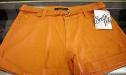 Girls Orange South Pole Shorts..Brand new, with tags. Comes with orange belt with a gold buckle. SP on the back pockets with rhinestones. Size 13, stretch.$15 267 Kenmore Ave. 11am-7pm Mon-Fri 12pm-3pm sat-sun (716) 783-7853