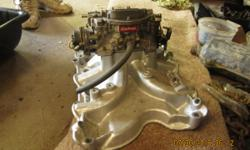 High Rise Intake 4 barrel with carb. $250.00