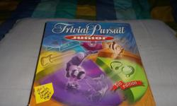 Junior Trivial Pursuit board game 5th edition,Contents:Gameboard,200 question and answer cards,4 tokins,24 scoring wedges,1 die1200 multiple-choice questions.By Hasbro.In good condition