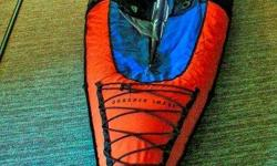 Sharper Image Inflatable Kayak - Single person. Rugged construction, perfect for any fresh water. 9 ', lots of ammenities including zip up apron, extra paddle, carrying case and more. Excellent condition. 208-233-5899