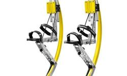 $169.00 PRODUCT DESCRIPTION  Jumping Stilts are a light-weight type of footwear worn to enhance activities such as running and jumping. It has stilts with springs attached at the back of your shins that allow the wearer to jump up to five feet off