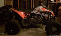 it is a 2008 KTM 525 with an HMF exhaust and new paddle tires . in excellent condition .