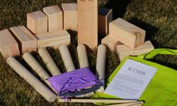 You may have played this at your last reunion or outdoor party, if not you?ll want to at your next!  Straight from Sweden, Kubb (pronounced [koob] in Swedish) is a fun outdoor game for 2-12 people. Two teams of 1 to 6 people try to knock over