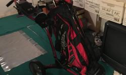 Full set of 2008 CallowayDablo's P-4. Plus many extra's:Big Breatha driver. Calloway Diablo 3W(21d) Calloway Diablo Edge 5W. Assorted Wedges both Pitching and sand. brand new calloway golf bag. Odyssey Putter Sun Mountian Extra light weight
