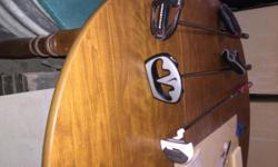 """3 BRAND NAME LEFT-HANDED MALLETT PUTTERS.  ALL IN """"LIKE NEW"""" CONDITION WITH EXCELLENT GRIPS AS WELL.  ODYSSEY, NIKE AND TOP-FLITE.  PLEASE TEXT OR CALL STEVE: 914-803-9606.  THANKS."""