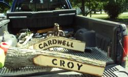 Hand routered wood logs customized to your spacific name/design. Excellent for holiday/birthday/house warming gift!