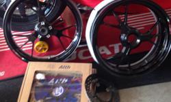 Marchesini wheels/rotors (gloss black powder coat) Brand new condition. Came off my 1199 s  $1850 obo