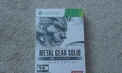 Brand new copy of the Metal Gear Solid Collection for XBOX 360 still sealed for $135 pick up only. Comes with Art book, copy of the game which includes Snake Eater, Sons of Liberty, and Peace Walker all inside a Hardened Slip Case. Also willing to trade
