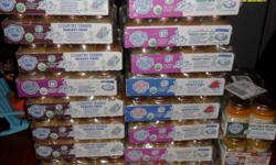 Earth's best organic baby food dinners. Asking $5 per case, please call if interested --