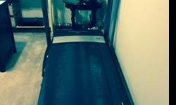 Pro Form 790T Treadmill from Academy. Excellent condition, 2+ years old. Folds up. About 6 ft. long, 4 ft. wide. Paid $750. Also includes mat. No delivery. Cash only.