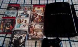 Selling a ps3 and 10 ps3 video games..in perfect conditions.. everything yours for only $300