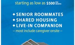 We are a registry and a referral service. We offer shared housing roommate services for seniors and disabled., Please call SDA Elderly Care if you have a home to rent or need a senior roommate. Visit us at sdaelderlycare.com.
