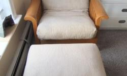 This is s very cute single size imported Brazilian hardwood futon and mattress with accompanying footrest. It can easily flip in a single size bed. This set was imported from Brazil a few years ago for $550. I am selling it for $249.