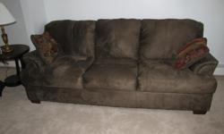 Ashely Furniture Olive Geen Polyester Microfiber Durapella Fabric Sofa and loveseat. I recieved the Sofa and loveseat on 9/2010. I had purchased them for my girlfriend but she did not have room for them in her house and did not want to replace the