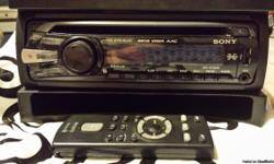 Sony Xplod radio with remote control, MA audio dual speakers with box and powerbass amp Asa400 200.00 OBO
