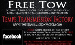 The Tempe Transmission Factory located in Tempe, Arizona. Quality Remanufactured Automatic and Standard Manual Transmissions for most automobile makes and models. Large selection of in-stock and ready to order Transmissions for your car, truck, van or SUV