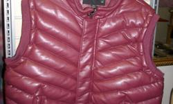 Awesome dark red vest. PU leather. Very nice, Get the look and feel of leather with added durability at a reasonable price. $70 267 Kenmore Ave. 11am-7pm mon-fri 12pm-3pm sat-sun (716) 783-7853