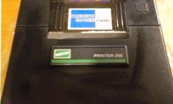 Like new in the box a POS credit card terminal VeriFone 250. I don't recollect ever even using this one. Doesn't look like I'll be opening up another store anytime soon so here it is for sale. In the process of looking around to see what's left over and