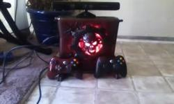 xbox 360 kinect with gears of war case game controller an three other games 2 of them r already on the xbox and i have another controller that goes with it