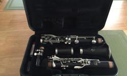 Black Yamaha Wood Clarinet with gray hard shell case. This unit has been fully maintained and serviced by Gadsden Music Company. It is was lastserviced on 5/29/2015 after its LAST use. Maintenance records are available for inspection. This